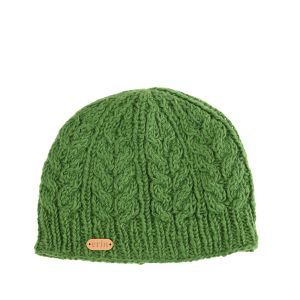 Erin Aran Cable Pullon Hat Green