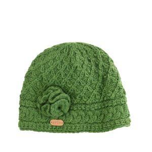 Erin Aran Trellis Green Hat