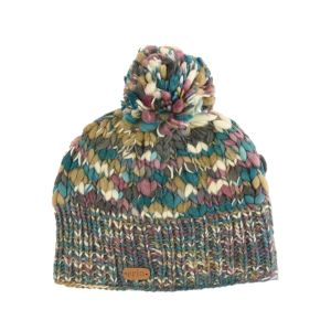 Erin Teal/Mauve Wool Bobble Hat