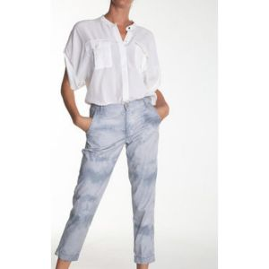 Eva Kayan White Front Pockets Shirt