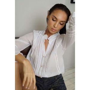 Eva Kayan Ruffle Collar Shirt