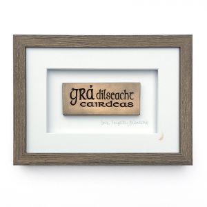 Wild Goose Gra Dilseacht Cairdeas Bronze Frame