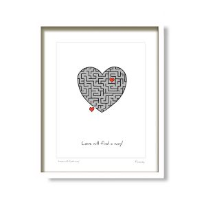 Fab Cow Love Will Find A Way Framed