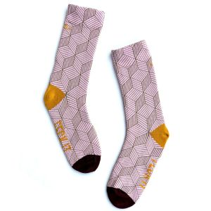 Irish Socksiety Feck it Pink Socks, Side view of socks