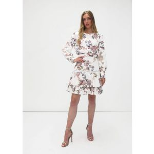 Fee G Paisley White Lace Dress