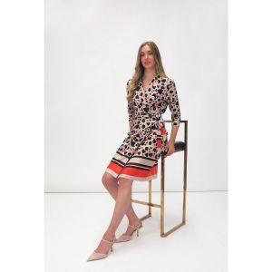 Fee G Wraparound Print Dress
