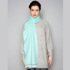 Foxford Mid Turquoise and Jade Scarf