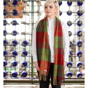 Foxford Red/Green Wicklow Tartan Scarf