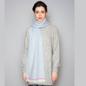 Foxford Willow Blue and Cerise Scarf