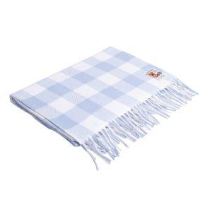 Foxford Blue Check Baby Blanket