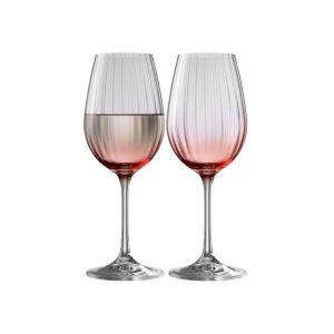 Galway Crystal Erne Blush Set of 2 Wine Glasses