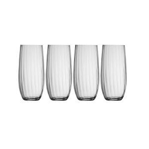 Galway Crystal Erne Set of 4 Hiball Glasses