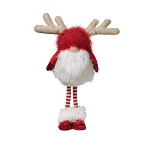Standing Christmas Gnome With Antlers