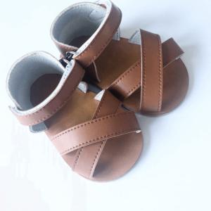 Goose & Gander Helia Tan Leather Sandals