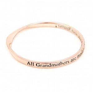 Lovethelinks Grandmother Bangle Rose Gold