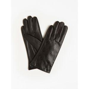 Guess 4G Peony Logo Black Gloves