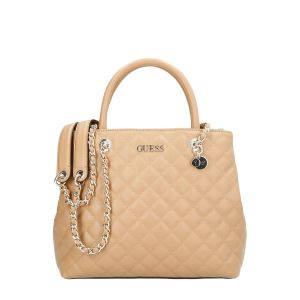Guess Illy Society Beige Quilted Handbag