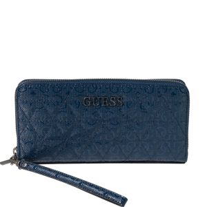 Guess Noelle Quilted Dark Blue Maxi Wallet