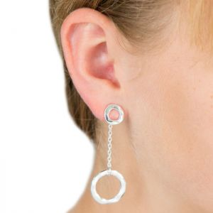 Lovethelinks Silver Single Drop Earrings