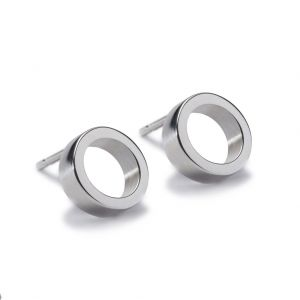 Maureen Lynch Circles Small Silver Stud Earrings