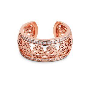 Newbridge Rose Gold Clear Stones Ring