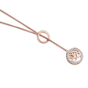 Newbridge Rose Gold Clear Stones Pendant
