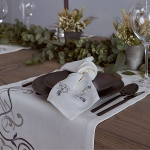 Irish Linen House Adrieanna Cream Table Runner