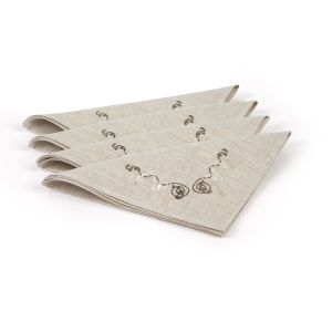 Irish Linen House Adrieanna Set of 4 Natural Napkins