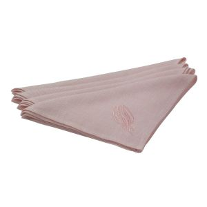 Irish Linen House Sea Grass Pink Set of 4 Napkins