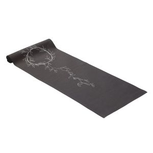 Irish Linen House Wreath Grey Table Runner