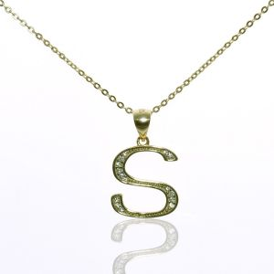 Jo Harpur Initial S Crystal Necklace
