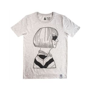 Jill & Gill Anna Wintour Grey T-Shirt
