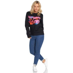 Jill & Gill Black 4 Colour Sweater model front