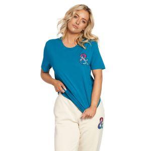 Jill & Gill Casual Everyday Blue T-Shirt close up