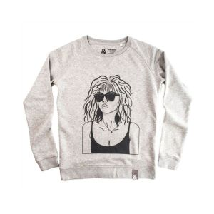 Jill & Gill Debbie Harry Grey Sweater