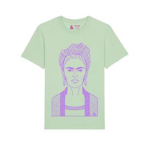 Jill & Gill Frida Kahlo Green T- Shirt