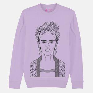 Jill & Gill Frida Kahlo Lavender Sweater