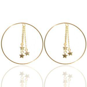 Jo Harpur Hoopy Star Earrings