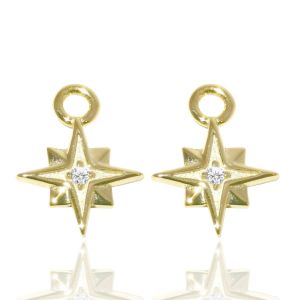 Jo Harpur The North Star Charm Earrings