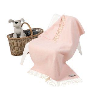 John Hanly Cashmere Pink  Baby Blanket