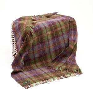 John Hanly Green/Purple Plaid Blanket
