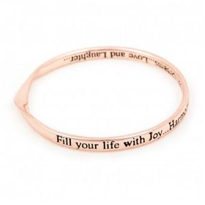 Lovethelinks Joy and Harmony Bangle Rose Gold