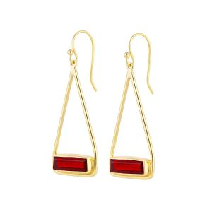 Juvi Manhattan Garnet Gold Earrings