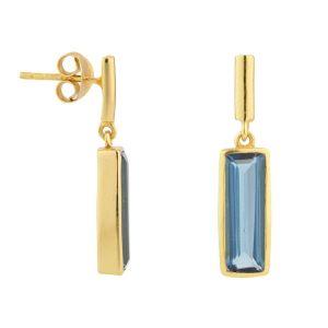 Juvi Manhattan Gold Plated Iolite Drop Earrings
