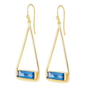 Juvi Manhattan Gold Plated Iolite Swing Earrings