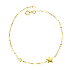 Juvi Shooting Star 9kt Gold Diamond Bracelet
