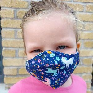 Kids Star Unicorn Face Mask