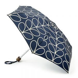 Orla Kiely Black/Cream Linear Stem Umbrella