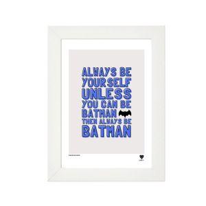 Lainey K Always Be Batman Framed Print