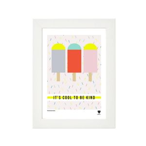 Lainey K Cool To Be Kind Framed Print